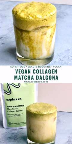 Vegan Collagen Matcha Dalgona