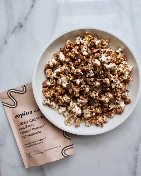 Chocolate Beauty Popcorn using Cacao Beauty