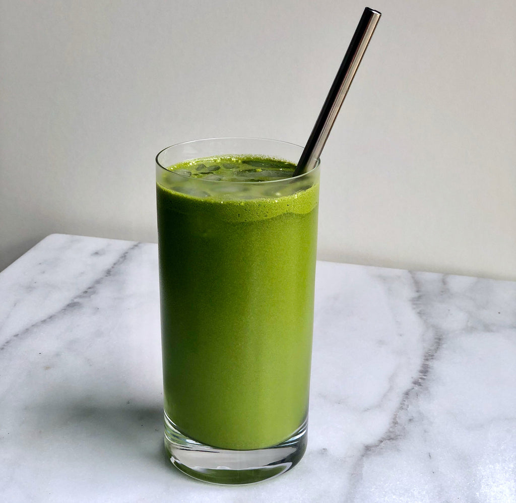 easy cold brew matcha collagen boost drink