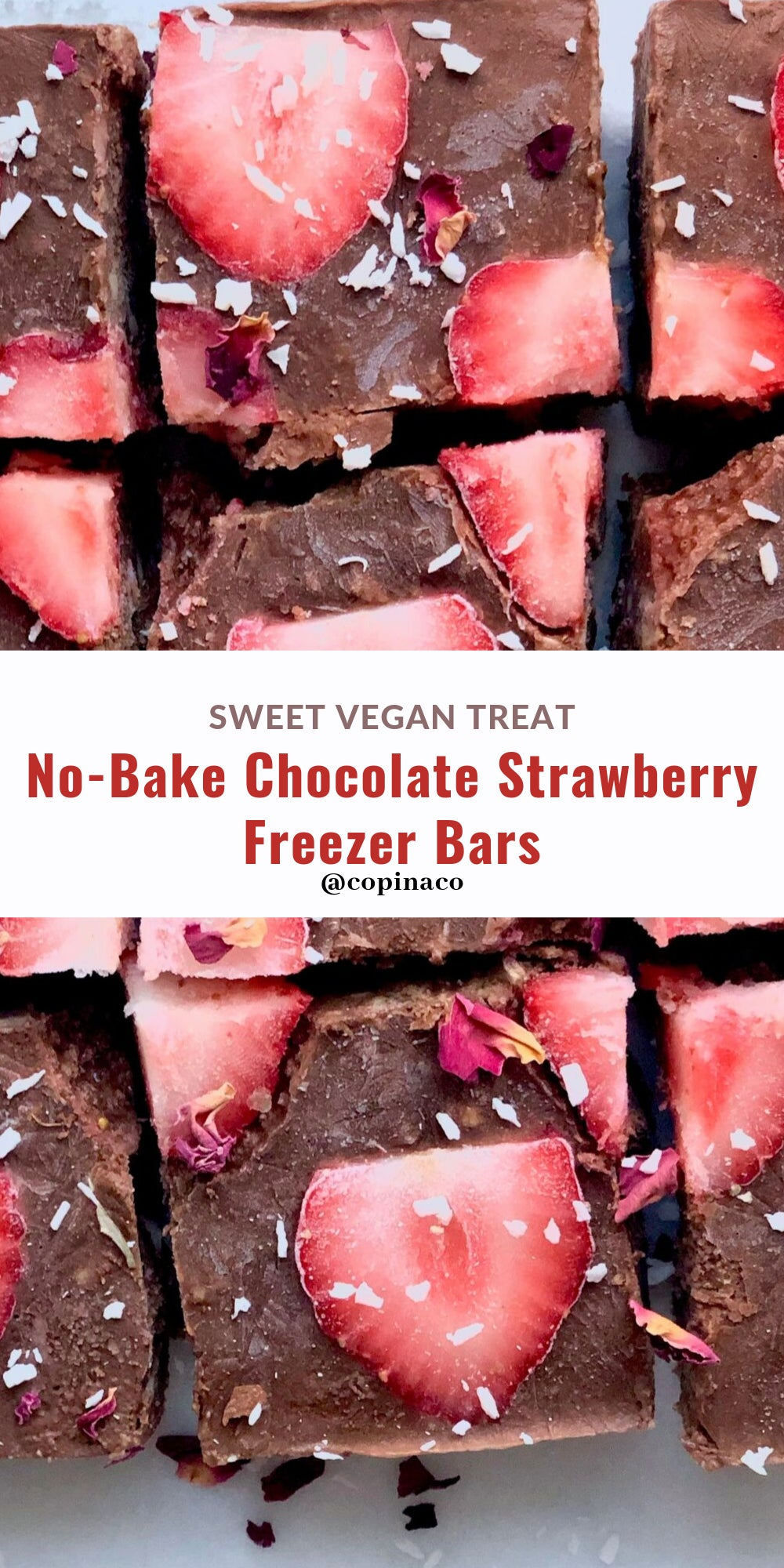 No-Bake Chocolate Strawberry Freezer Bars