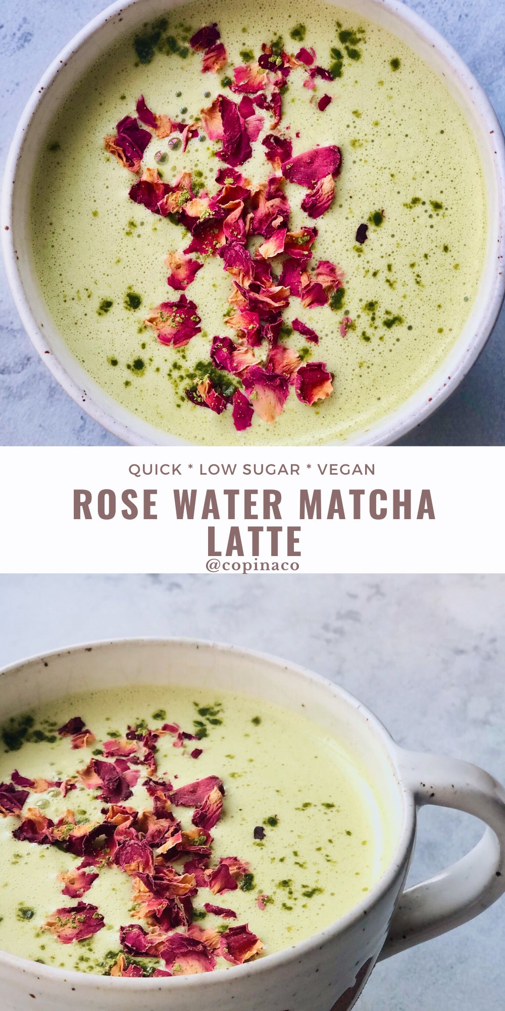 Rose Water Matcha Latte