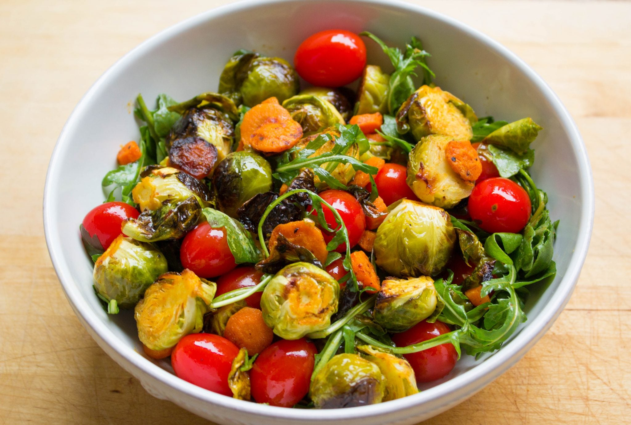 Sriracha-Roasted Brussels Sprout Salad