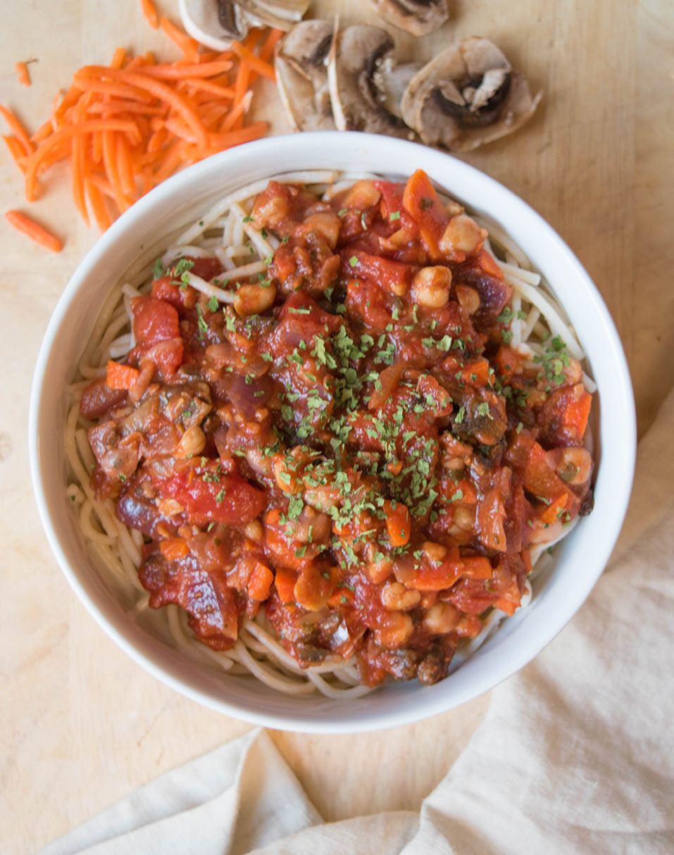 10-Minute Chickpea Bolognese