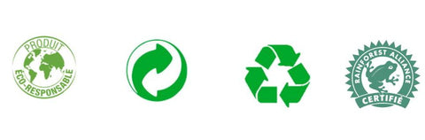 Logo eco-responsable, recyclable