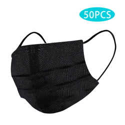 Black Premium Quality Disposable Face Mask - 50pcs (35 QAR)