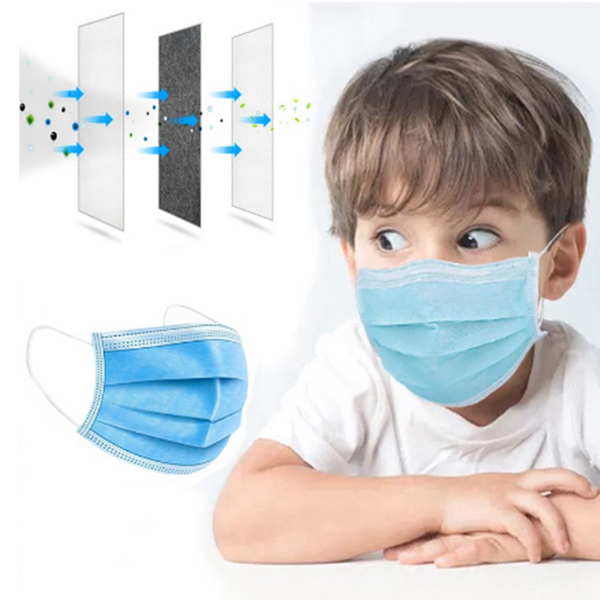 Kids Masks Blue 10pcs pack
