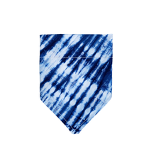 Load image into Gallery viewer, Blue Tie Dye Bandana