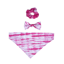 Load image into Gallery viewer, Pink Tie Dye Scrunchie
