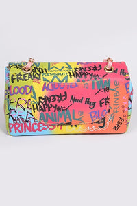 Multi-Color Graffiti Bag