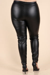 Plus Size Liquid Leather Pants