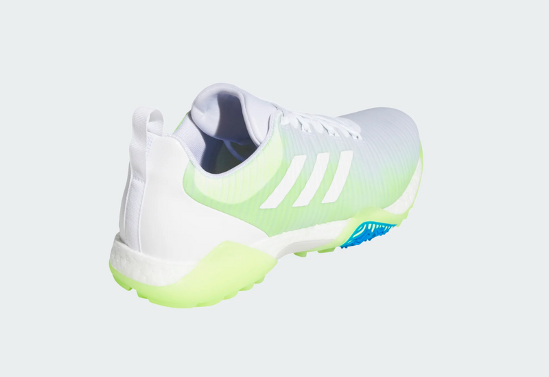 adidas CODECHAOS GOLF SHOES - CLOUD WHITE/SIGNAL GREEN/GLOW BLUE