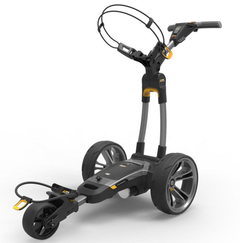 POWAKADDY CT6 ELECTRIC GOLF TROLLY - GUN METAL