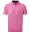 FootJoy Lisle Solid Button Down Collar Golf Polo Shirt - ICED BERRY