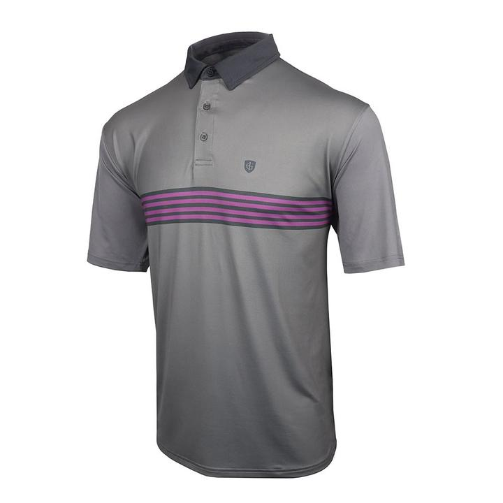 Island Green - UV Coating Chest Stripe Polo
