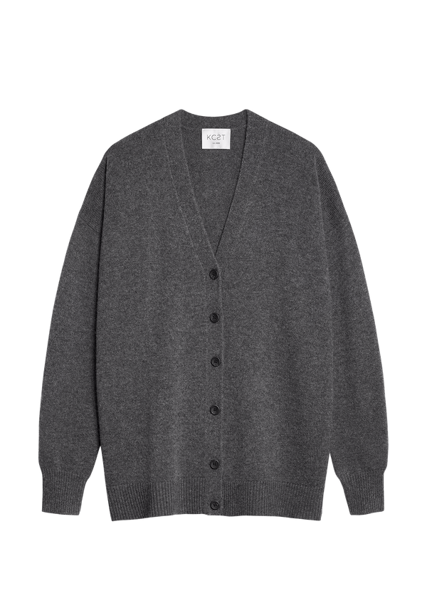 The Cozy Cardigan - Pebble Grey