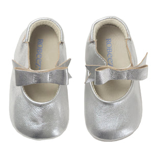 Leather Silver Soft Soles-Robeez