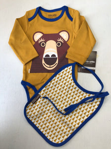 Long Sleeve Animal Onsie and Bib Set  -Coq de Pac