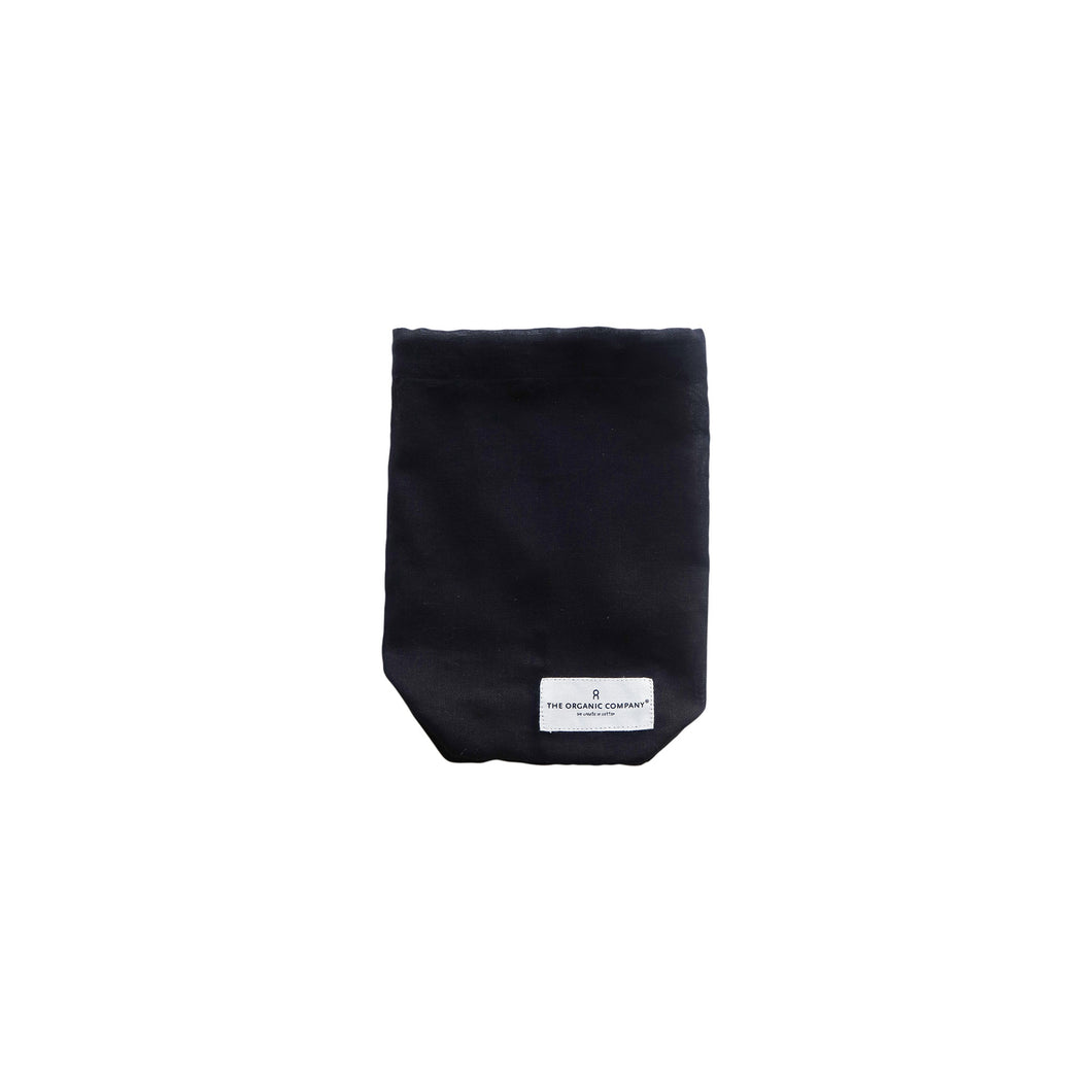Organic Cotton All Purpose Black Bag - Small