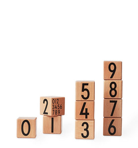 Number Wooden Cubes Set