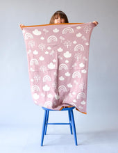 Load image into Gallery viewer, Pink Rainbow Baby Blanket