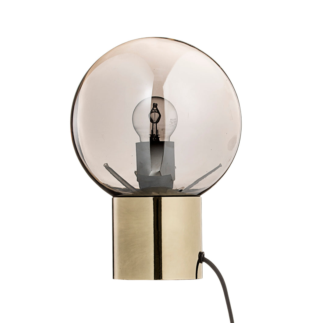 Gold and Glass Table Lamp