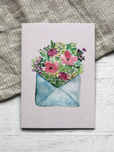 Load image into Gallery viewer, Flower Note Greeting Card