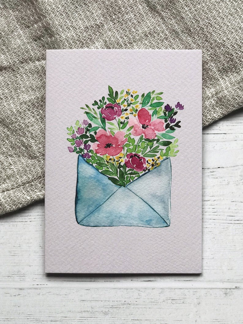 Flower Note Greeting Card