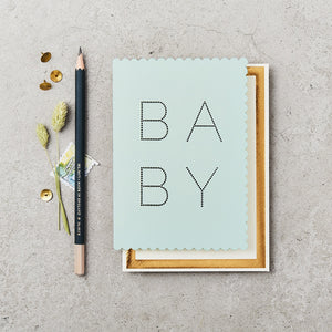 Luxe baby card