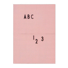 Load image into Gallery viewer, Pink A4 Message Board with Black Letter Set