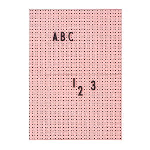 Pink A4 Message Board with Black Letter Set