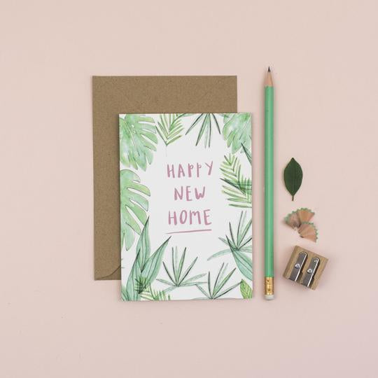 Botanical Happy New Home greetings card