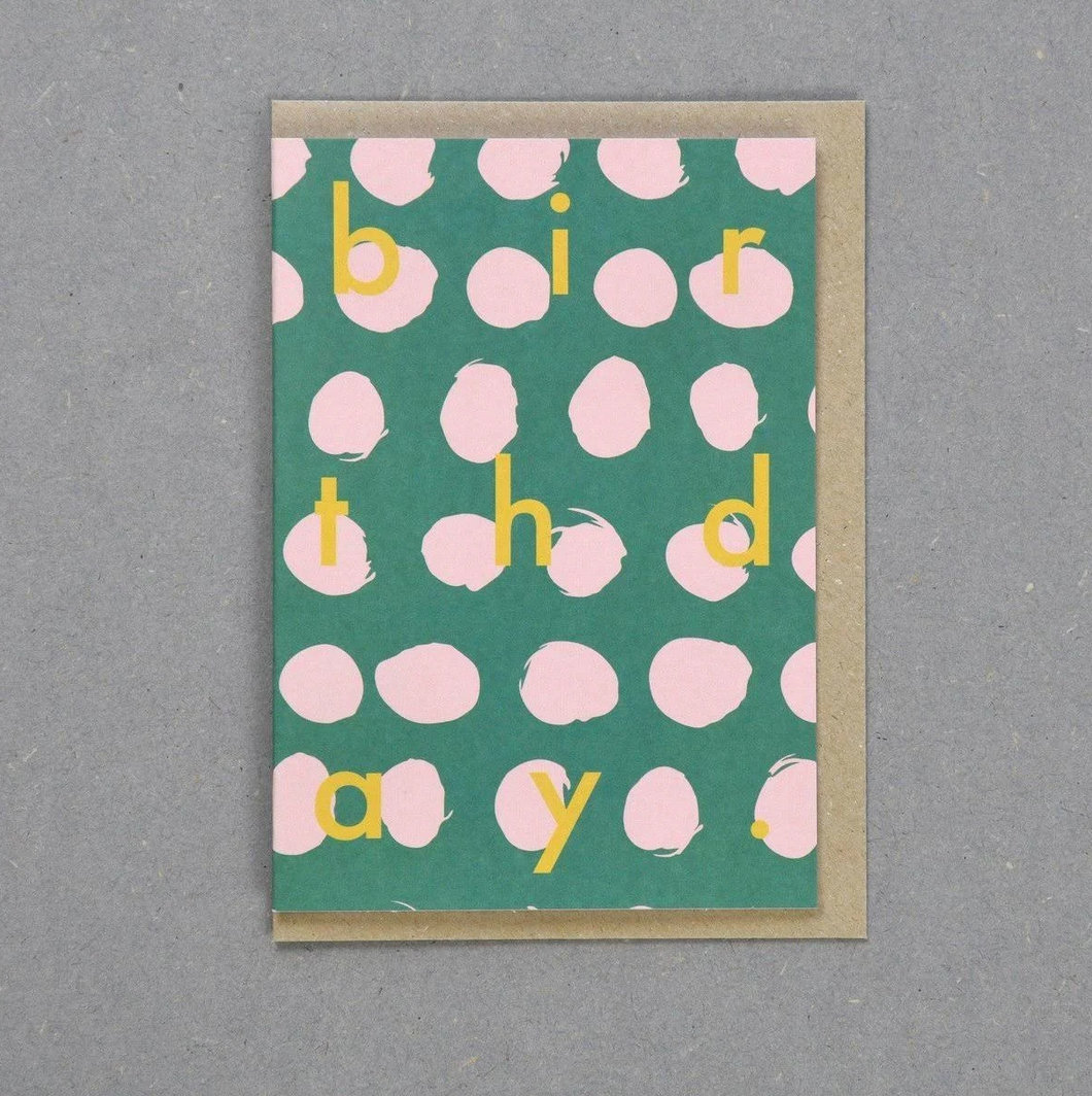 Polka dot birthday card