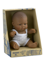 Load image into Gallery viewer, Miniland Hispanic Boy Doll 21cm