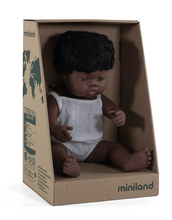 Load image into Gallery viewer, Miniland African Boy Doll 38cm