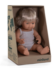Load image into Gallery viewer, Miniland Caucasian Girl Doll - 38cm
