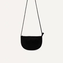 Load image into Gallery viewer, Vegan Half Moon Bag- Black