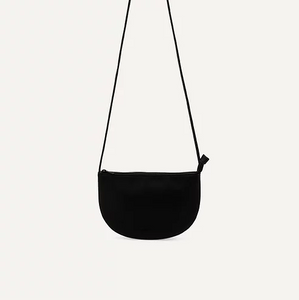 Vegan Half Moon Bag- Black