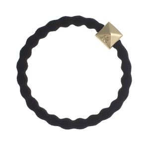 Gold Stud | Black Hairband Bracelet