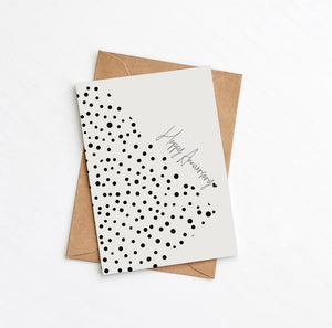 Happy Anniversary Card - Dots
