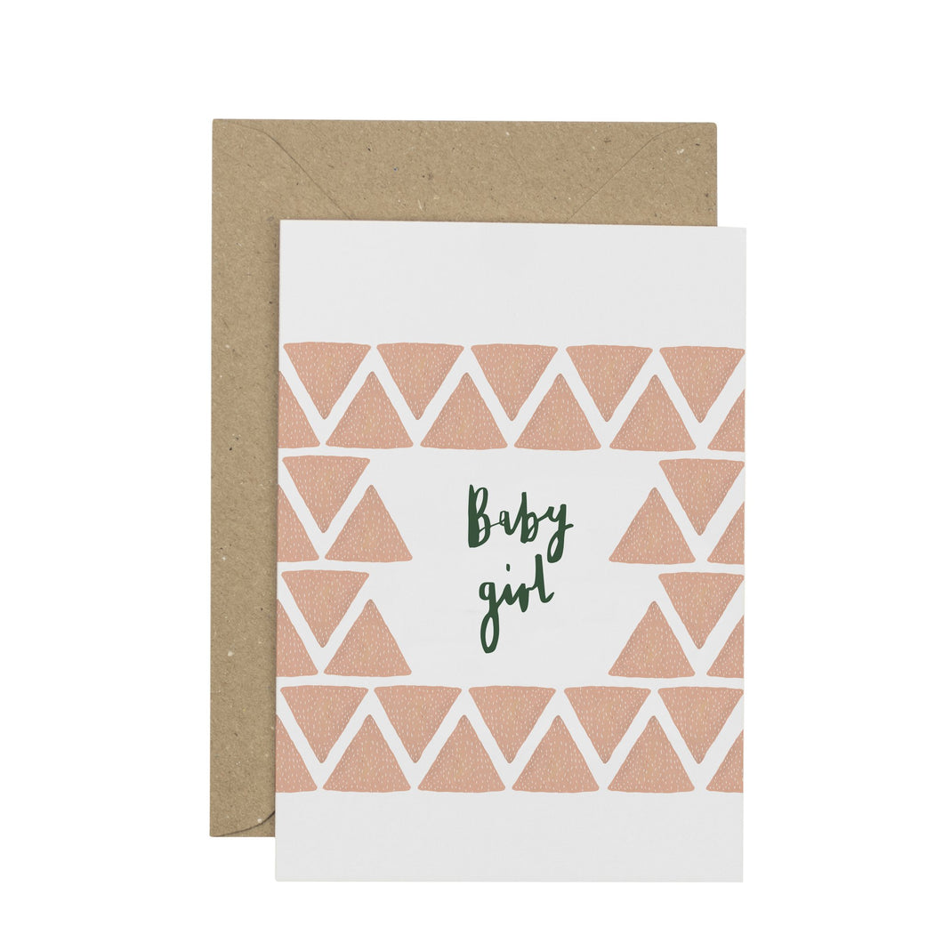 New Baby Card - Baby Girl