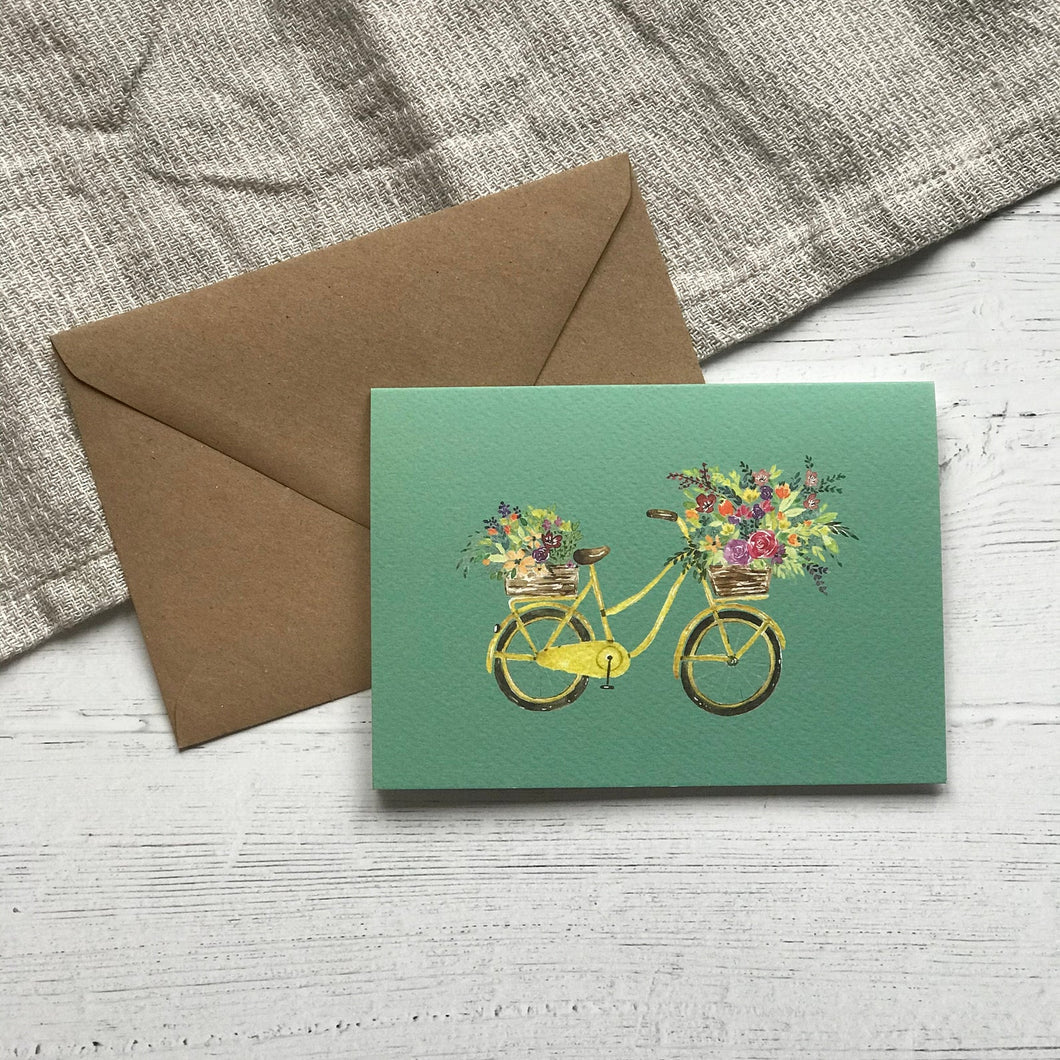 Floral Bike Greeting Card