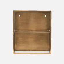 Load image into Gallery viewer, Brass Wall Cabinet