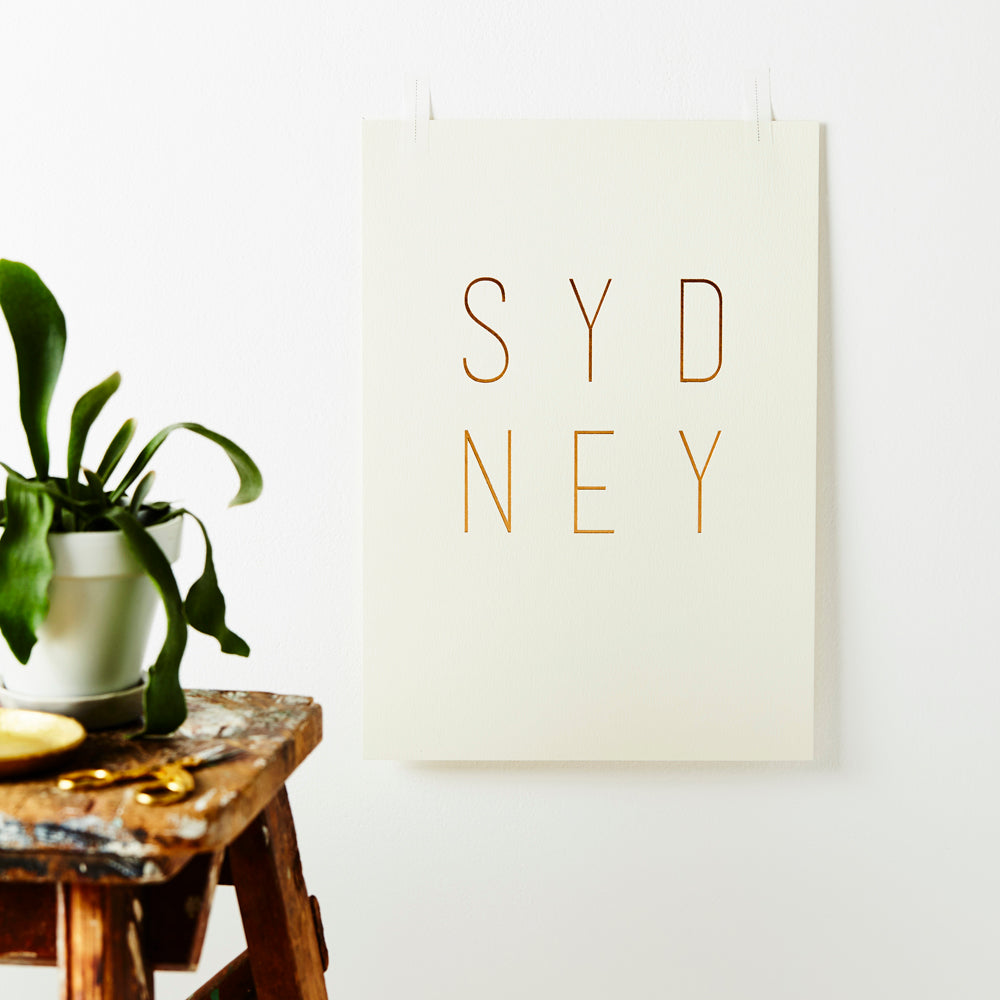 Sydney Gold Foiled Print