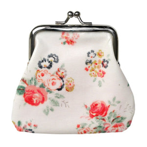 Floral Oilcloth Coin Purse