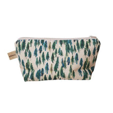 Load image into Gallery viewer, Forest Cotton Cosmetic Bag