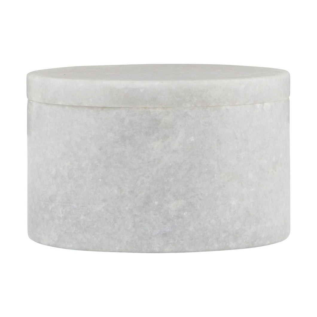 White Marble Storage Pot and Lid