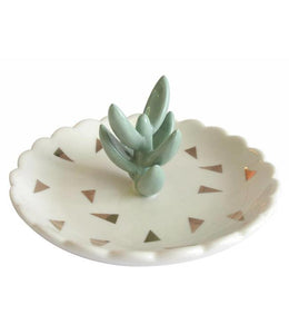 Urban Cactus Ceramic Jewellery Dish
