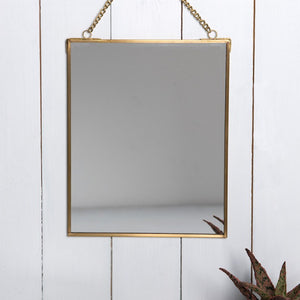Mirror with Gold Chain