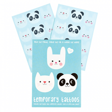 Load image into Gallery viewer, Panda and Friends Temporary Tattoos