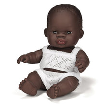 Load image into Gallery viewer, Miniland African Boy Doll 21cm